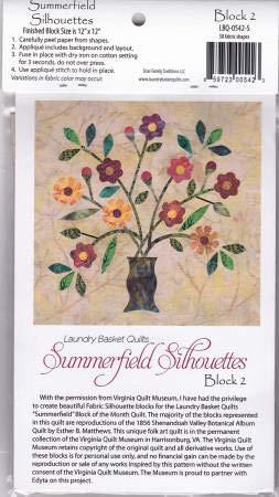 Summerfield Silhouettes Laser Cut Fusible Applique Kit - Block #2