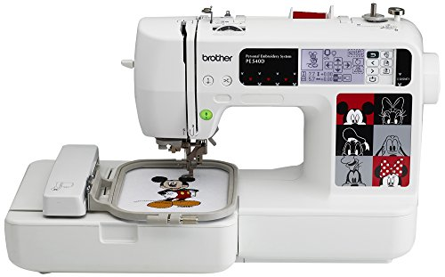 Brother PE540D 4×4 Embroidery Machine with 70 Built-in Decorative Designs, 35 Disney Designs, 5 Fonts