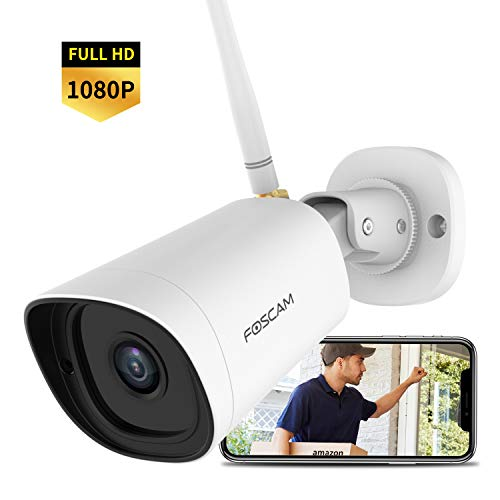 Outdoor Security Camera Wireless, Foscam G2 1080P WiFi Security Camera with AI Human Detection, Night Vision, IP66 Waterproof, Compatible with Alexa & Google Assistant, Foscam Cloud Service Available