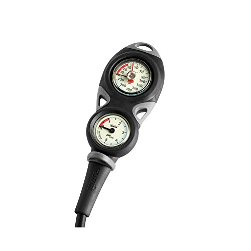 Mares Mission 2 Scuba Diving Console - Scuba Tank Pressure and Depth - Gauge Dive Console