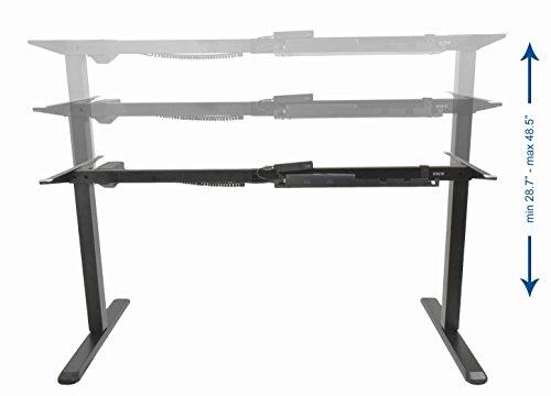 Vivo Black Electric Stand Up Desk Frame Workstation