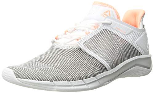 Reebok Women's Fast Flexweave Running Shoe, Spirit White/Digital Pink/Atomic red, 5 M ()