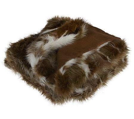 "Dennis Basso Fox Collection Faux Fur 50"" x 60"" Throw, Silver Fox from Dennis Basso"