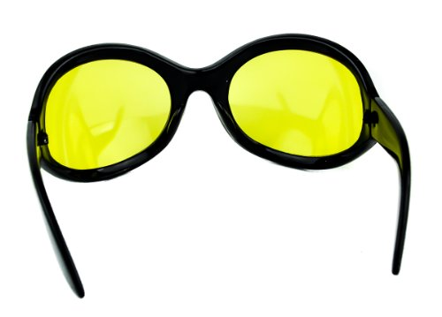 f0c2757e9142 Yellow Lens Gothic Vampire Sunglasses Oversized Sexy Glasses ...