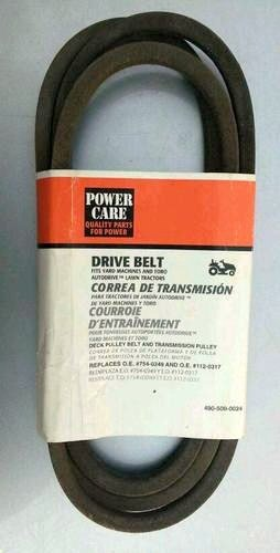 Drive Belt Replaces O.E. #754-0349 AND O.E. #112-0317 Deck Pulley Belt and Transmission Pulley Fits Yard Machines and Toro Autodrive Lawn Tractors