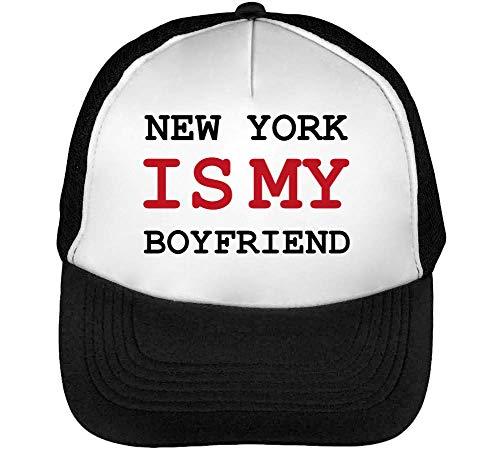New York Is My Boyfriend Gorras Hombre Snapback Beisbol Negro Blanco