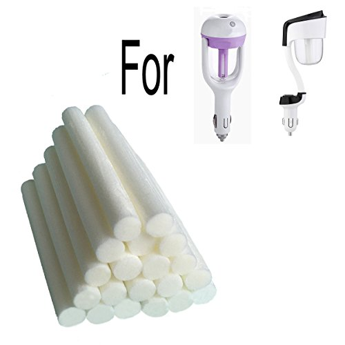 Price comparison product image 20-Pack Car Diffuser Sponges Refill Sticks Filter Wick Replacements 2.75 X 0.31 Inch for Car Humidifier Diffuser and Mini Humidifier Ultrasonic Aroma Diffuser