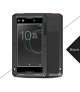 watch 3bb80 ecc52 LOVE MEI Sony Xperia XA1 Waterproof Case, Original Brand Shockproof  Waterproof Dust/Dirt/Snow Proof Aluminum Metal Corning Tempered Glass Case  Cover ...