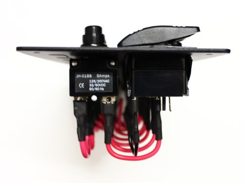 Bandc 12v 24v 8 Gang Aluminium Waterproof Bus Marine Boat Bridge Control Rocker Switch Panel with Circuit Breaker
