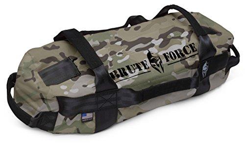 Bag Mini Grip (Brute Force Sandbags - Mini Sandbag - Camo - Heavy Duty Sandbag Crossfit Workout Equipment Weighted Bags Heavy Sand Bags Military sandbags)