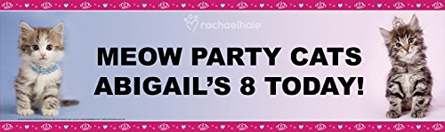 [Rachaelhale Glamour Cats Party Room Decorations - Personalized Vinyl Banner 18