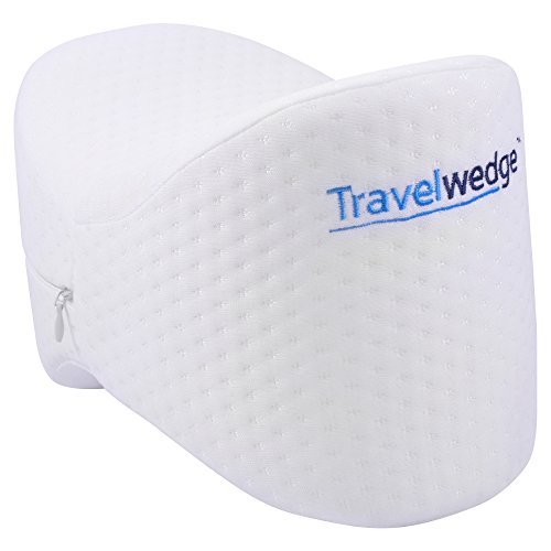 TravelWedge® Knee Pillow Memory Foam Pain Relief for Sciatic Nerve Leg Back Pregnancy Discomfort Includes Soft Breathable Washable Cover by TravelWedge®