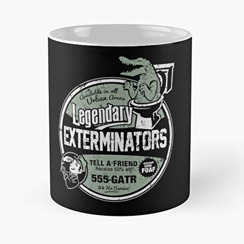 Gator Sewer Alligator - Coffee Mugs Unique Ceramic Novelty Cup