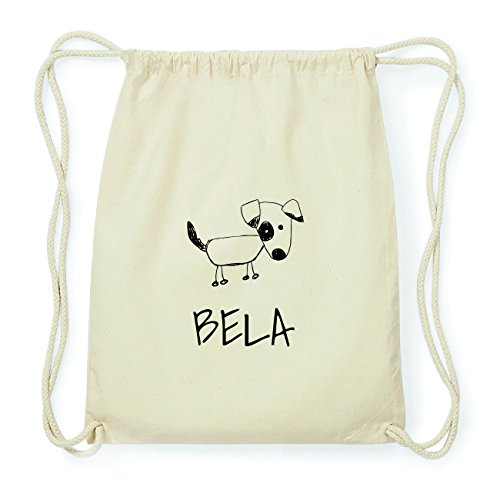 JOllipets BELA Hipster Turnbeutel Tasche Rucksack aus Baumwolle Design: Hund MMW22yBO8