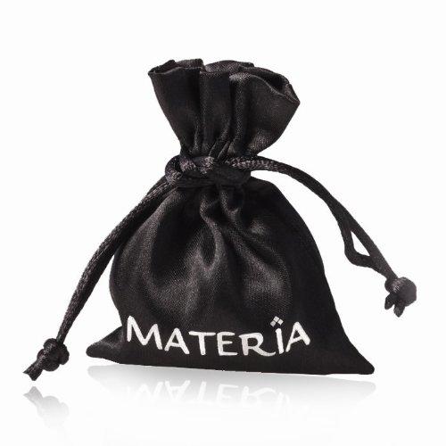 Original mATERIA 925 argent sterling perles à facettes en verre et pendentif-murano et perles #1488 noir, bleu, rose