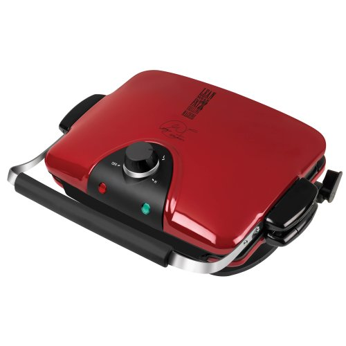 George Foreman GRP90WGR Next Grilleration Electric Nonstick Grill with 5 Removable Plates, Red by Spectrum