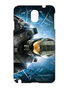 Halo 5 Guardians Cell Phone Cover Case Hülle for Samsung Galaxy Note 2 Funda Piel Cool Game Girls Boys (Negra and Diseño) 3D Solid Plastic Protection Luz Vintage Anti Scratch Non Slip Case for Galaxy Note 2