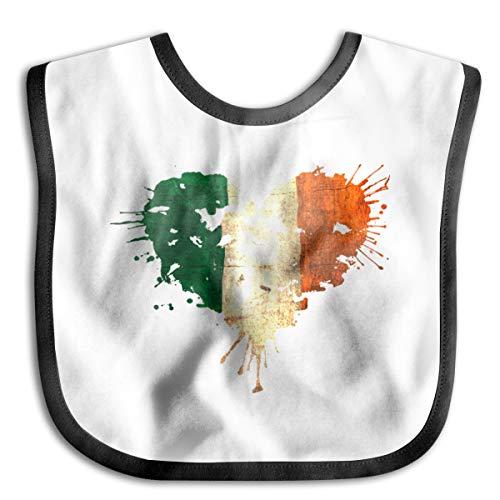 Ireland Irish Love Heart Baby Drool Bibs Baby Skin Wrap Bib Soft Unisex