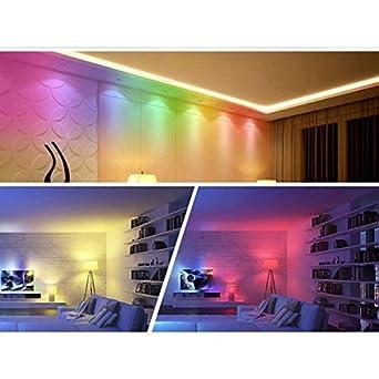 Adatech Bombilla LED RGB E27 Luz LED 16 Colores Regulable Control Remoto 85-265V: Amazon.es: Iluminación