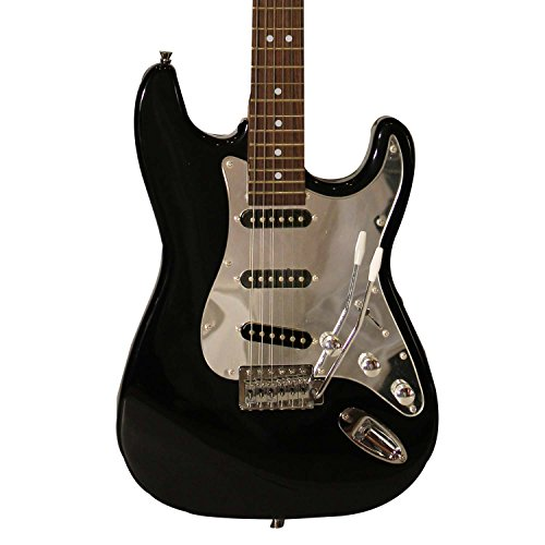 Sawtooth ST-ES-BKC Black Electric Guitar with Chrome Pickguard