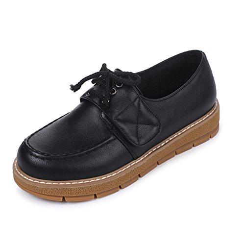Correa elegante de minimalistas A Velcro Zapatos mocasines oscuros de tacón TUx5pw