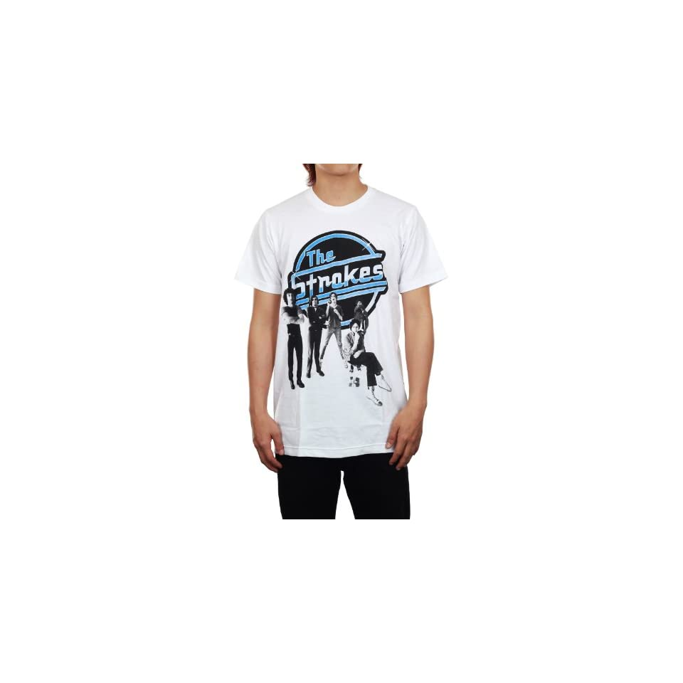 The Strokes Rock Band New White Rock Music Tee T Shirt (S, White)