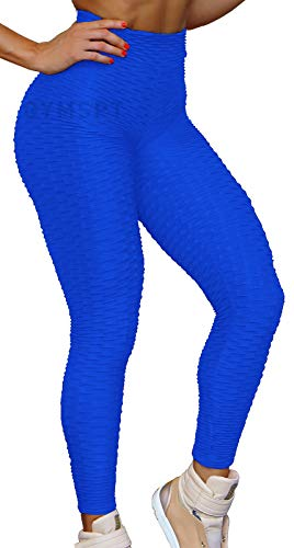 POWERASIA High Waisted Yoga Pants for Women, Tummy Control Ruched Butt Lifting Workout Scrunch Leggings Booty Tights