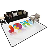 Decorative Floor mat,Ancestral Children Name with Medieval Origins Nursery Themed Puzzle Preschool Design 6'x8',Can be Used for Floor Decoration