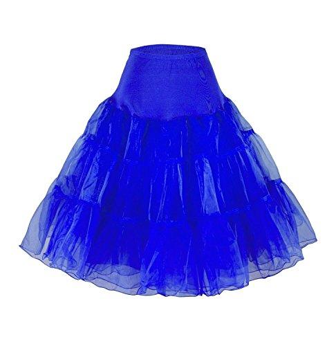 Phoenix® enagua de la boda accesorios enagua tutú de la boda Enaguas Falda paseo Tutú 50s enagua rockabilly retro pivotar enagua de la vendimia falda neta de lujo Azul