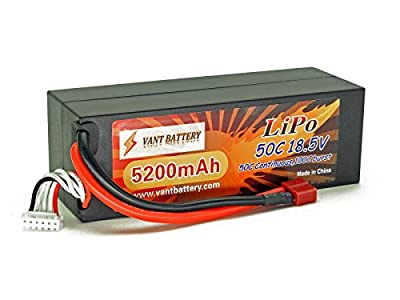 18.5V 5200mAh 5S Cell 50C-100C HardCase LiPo Battery Pack w/ Deans Ultra Plug Style Connector