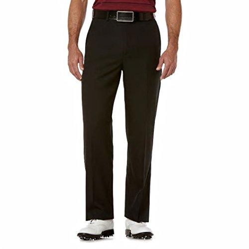 (Grand Slam Men's Big & Tall Performance Easy-Care Flat-Front Golf Pants (Caviar, W48 X L34))