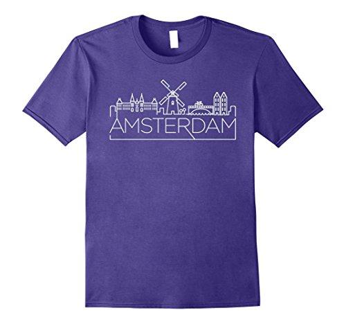Mens Amsterdam Tee Shirt - Netherlands Souvenir T Shirts XL (Amsterdam Tee)