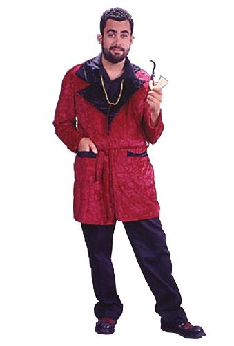Fun World Men's Casanova Smoking Jacket Adlt, Multi, One Size -
