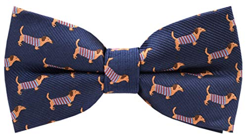 - Carahere Boys Handmade Adjustable Pre-Tied Pattern Bow Ties For Kids Toddler Bow Ties (dachshund pattern)
