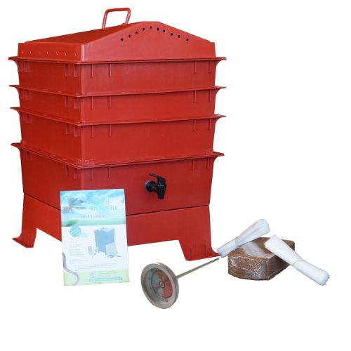 3-Tray-Worm-Compost-Bin-with-Free-Thermometer-Terracotta