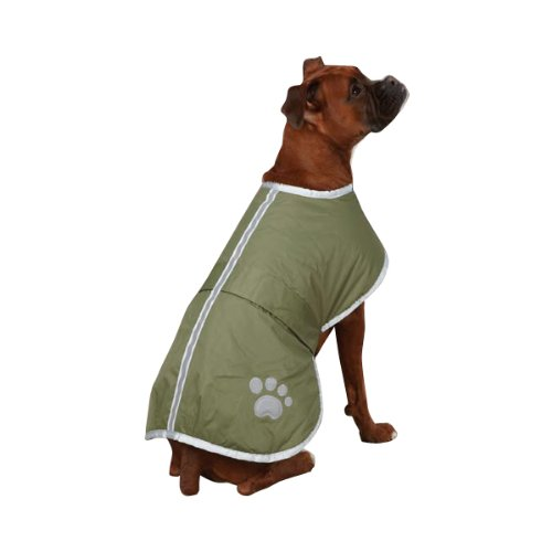 Zack and Zoey Polyester Nor'easter Dog Blanket Coat, XX-Large, Chive, My Pet Supplies