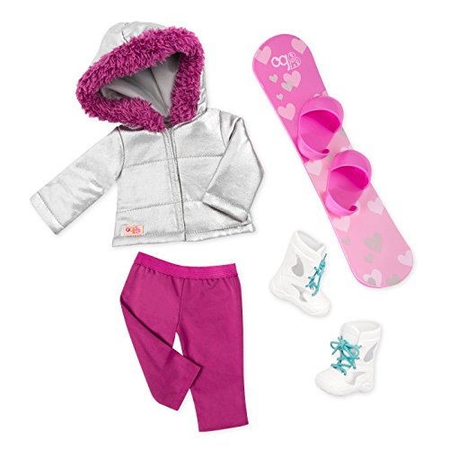 """Battat Our Generation Deluxe 18"""" Snowboard Outfit"""