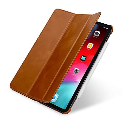 """StilGut Leather Case for Apple iPad Pro 11"""" (2018) Couverture Case, Cognac Brown"""