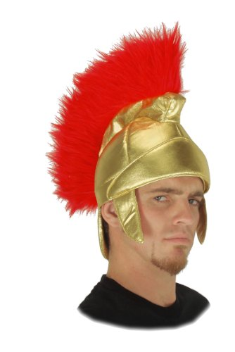 elope Roman Soldier Hat, Gold/Red, One (Roman Soldier Hat)