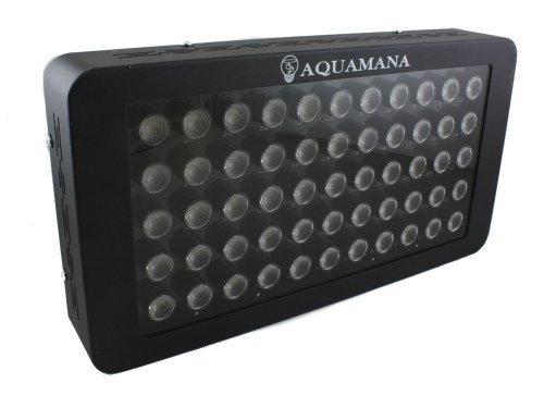Aquamana AQ LED-55x3W Dimmable 120W LED Aquarium Light Panel for Coral, Reef & Fish