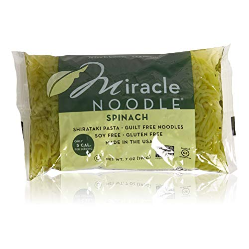 (Miracle Noodle Shirataki Spinach Angel Hair Pasta, Gluten-Free, Zero Carb, Keto, Vegan, Soy Free, Paleo, Blood Sugar Friendly, 7oz (Pack of 12))