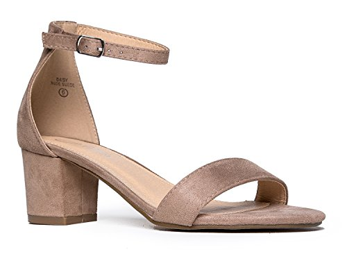 Low J Ankle Taupe Block Daisy Suede Kitten Adams Strap Heel Adorable Heel qq15CT7Fc