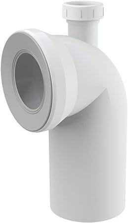 WC-Anschlussbogen 90° weiß mit Schlauchanschluss 40 mm