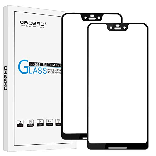 [2 Pack] Orzero for Google Pixel 3 XL Tempered Glass Screen Protector, 2.5D Arc Edges 9 Hardness HD Anti-Scratch Full-Coverage [Lifetime Replacement Warranty]