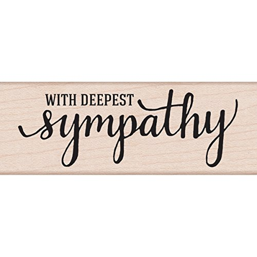 Hero Arts G6072 with Deepest Sympathy Woodblock Stamp by Hero Arts
