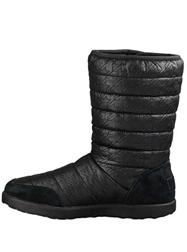 UGG Youth Puffy Quilted Houndstooth Boots in Black 4 US