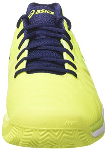 Asics Gel-resolution 7 Clay Mens Tennis Shoes E702y Sneakers Shoes Safety Giallo Blu Bianco 0749