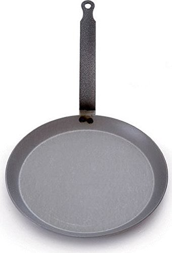 Mauviel Made In France M'steel Black Steel Crepe Pan, 9.5-Inch by Mauviel
