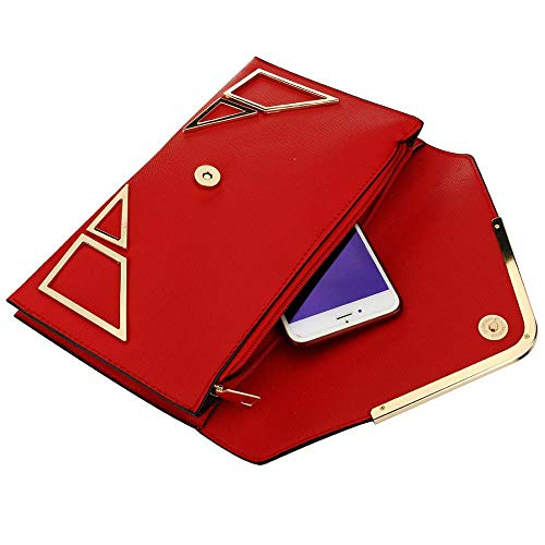 Bags Brown EROUGE Designer Envelope Shoulder Crossbody Retro Women for Purse Bags Evening Clutch xExW4wTq