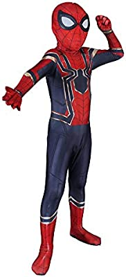 QQWE Spider-Man Disfraz De Cosplay The Avengers Iron Spiderman Disfraz De Adulto para Niños Disfraz De Mono Trajes Vestimenta,Childern-L
